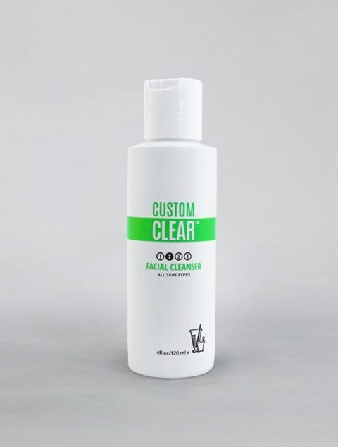 Custom Clear - Acne and Anti-Aging Skin Care - Acne Products - Facial Cleanser - Image 001